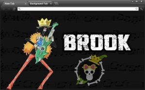 One Piece Google Chrome Theme: Brook by yohohotralala