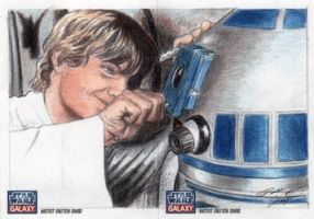 Star Wars G7 - Luke and R2-D2 Sketch Art Card 2pc by DenaeFrazierStudios
