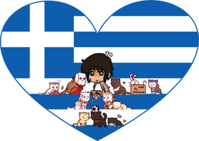 Greece with Nation Cats Shimeji Heart by LadyAxis