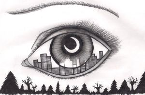 The Eye of the City by MissPrimrosy