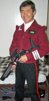 TSFS Bomber Jacket w/ Assassin Phaser Carbine Mk.2 by galaxy1701d