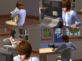 The Sims 2 - Death Note by Haru-yuki