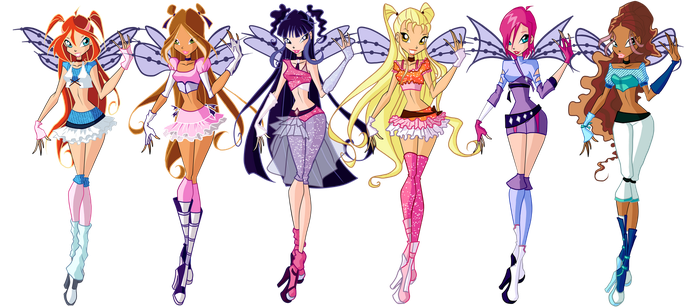 Winx Club PraBelievix Designs by TheDamnedFairy