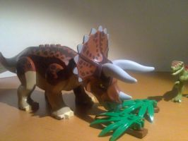 Lego Diets - Triceratops by SmashBrawlR7538
