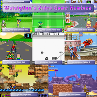 Waluigifan's Video Game Remixes (Front Cover) by waluigisrevenge