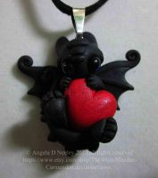 Valentine Toothless Pendant by carmendee