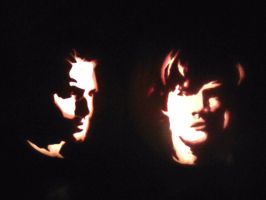 Sam and Dean Winchester Halloween Pumpkins by yuffb