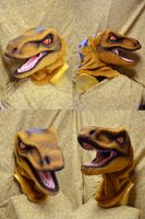 Old Lace Deinonychus Head by temperance