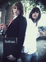 Light Yagami and Ryuzaki or L by Deepblue-shines-on