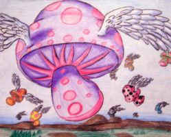 Flight of the Mushrooms I by Child-of-God