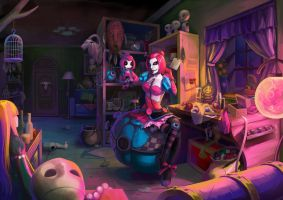 LOL - Sewn Chaos Orianna's Private Room by JoFang-Art