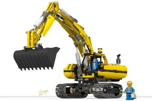 Motorized Excavator by champion-ofThe-light