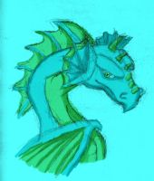 Tyra the Water Dragon by Crazy-Brave-Girl
