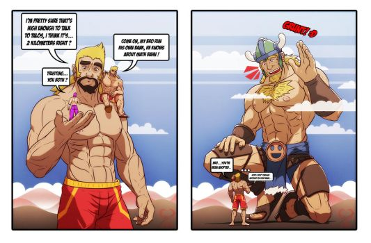 Sweet Meeting with big guys by leomon32