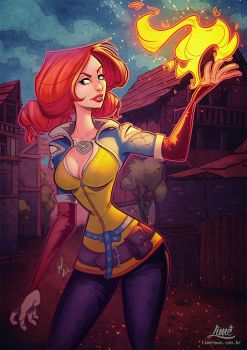 Cartoon Triss by AmandaDuarte