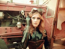 Latex rubber catsuit steampunk #8 by HARDWARE-MARK13