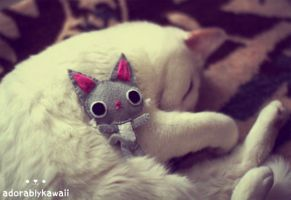 Gray Kitty Plush by adorablykawaii
