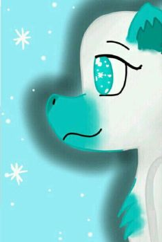Snowflake the dragon  by LilKookie