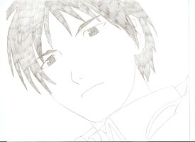 Roy Mustang, Uncolored by Jeltimab