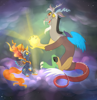 Bright Night and Discord by peachiekeenie
