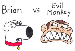 Brian vs. Evil Monkey by BrianGriffinFan