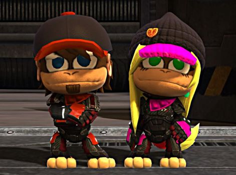 Diddy and Dixie Kong (N7 Cosplays) - LBP3 Costumes by Varia31