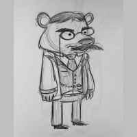 Lunchtime Drawing - Teddybear Roosevelt by AronDraws