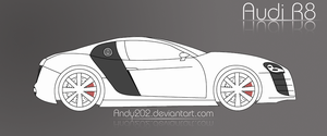 Audi R8 outline by Andy202