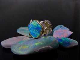 Lightning Ridge Opal Ring by jessa1155
