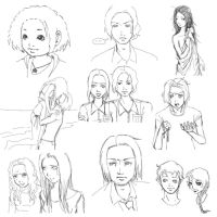 hunger games character sketches by finnodair
