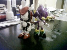 Custom Espio and Mighty Unfinished by Diegichigo