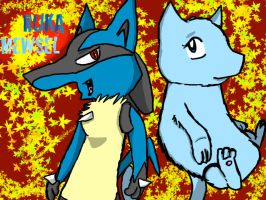 Ruka and Mewsel by Ruka-The-Lucario