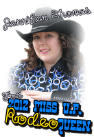 Jennifer for Miss U.P. Rodeo Queen Tee / Poster by PunkKimber