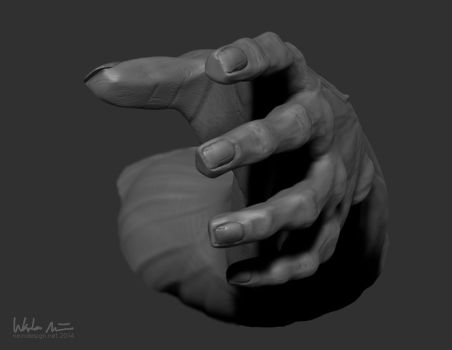1,000 pageviews!    ZBrush Hand Concept by wadenein