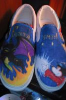 Disney's Fantasmic vans by XxCyanideMelovexX
