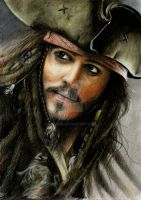 Jack Sparrow - Color pencils by Diguera