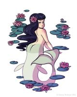 Mythological Pinup - Mermaid by StaceyRobson