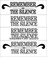 Remember the silence Logo by remember-the-silence