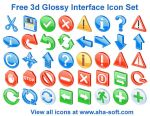 Free 3d Glossy Icons by aha-soft-icons