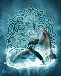Celtic Dolphins by brigidashwood