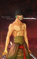 One Piece: Pirate Hunter Zoro by SaraSama90