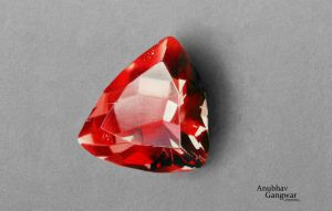 Garnet Gemstone - Drawing by Anubhavg