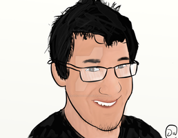 Markiplier Smiling At You! by Davids-Doodles