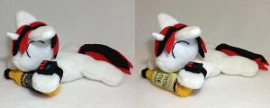 Blackjack beanie plush with bottle by Bewareofkitty