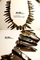 pearl claw necklace by MechaBerry