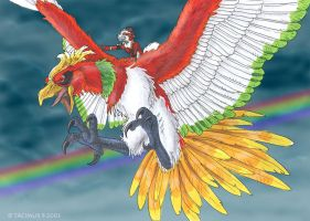 Riding the Ho-Oh by Tacimur
