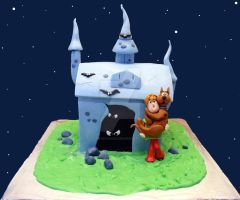 Scooby Doo House Cake by ginas-cakes