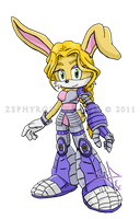 SatBK: Bunnie as Bodyguard Bronwen by Zephyros-Phoenix