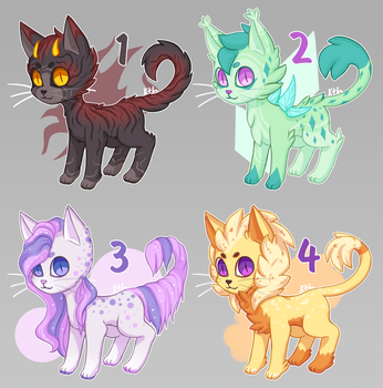 Auction CLOSED - Colorful cats (adopt batch) by KetLike