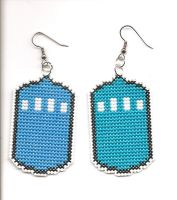 TARDIS earrings by Sew-Madd